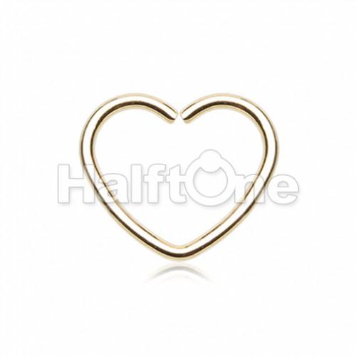 Heart Shaped Bendable Twist Hoop Ring