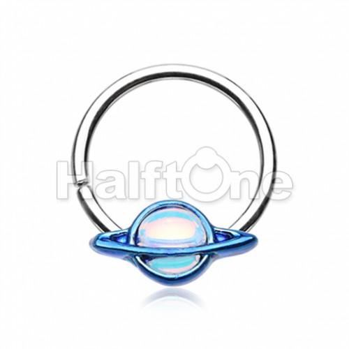 Saturn Galaxy Twist Bendable Hoop Ring