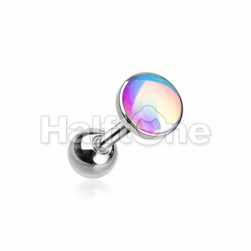 Convex Synthetic Moonstone Cartilage Tragus Earring