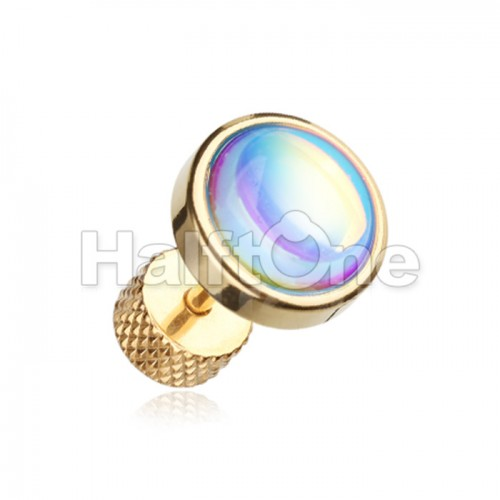 Golden Illuminating Moonstone Steel Fake Plug