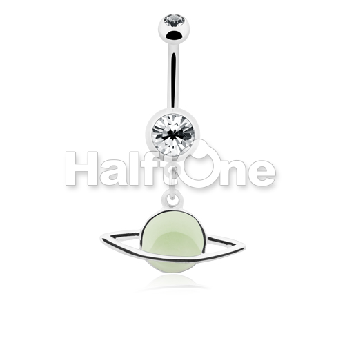 how to serch factory price buy popular Glow in the Dark Saturn Ring Planet Belly Button Ring