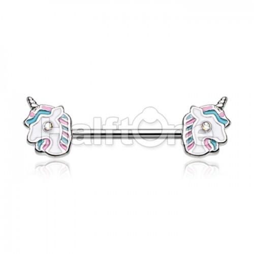 Fairytale Unicorn Nipple Barbell Ring