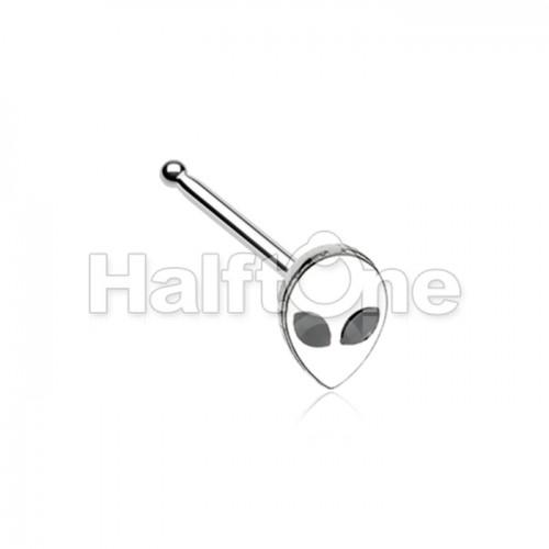 Alien Head Nose Stud Ring