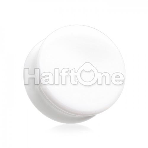 Flat Glass Natural Stone Double Flared Ear Gauge Plug