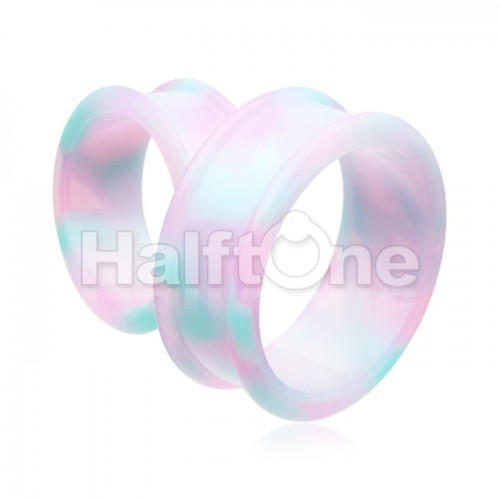 Milky Way Supersize Flexible Silicone Double Flared Ear Gauge Tunnel Plug
