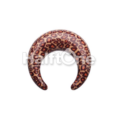 Retro Leopard Acrylic Ear Gauge Buffalo Taper