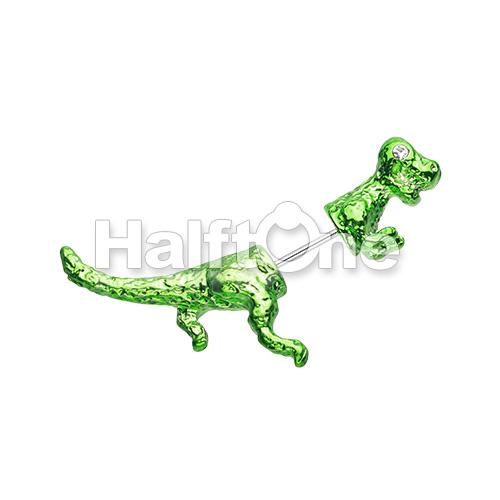 Dinosaur Dash Fake Taper Earring