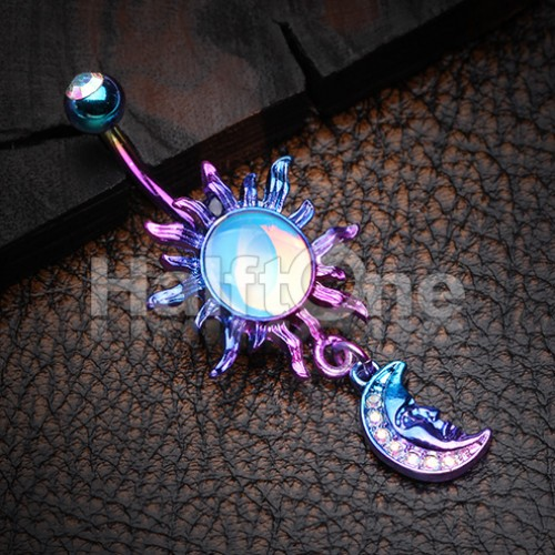 Candy Celestial Sun Moon Belly Button Ring