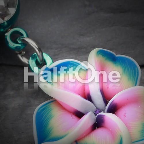 Colorline Hawaiian Plumeria Flower Belly Button Ring