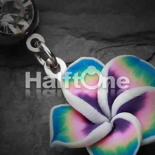 Hawaiian Plumeria Flower Belly Button Ring